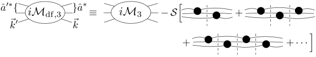 Diagrammatic definition of the divergence-free three-to-three amplitude,