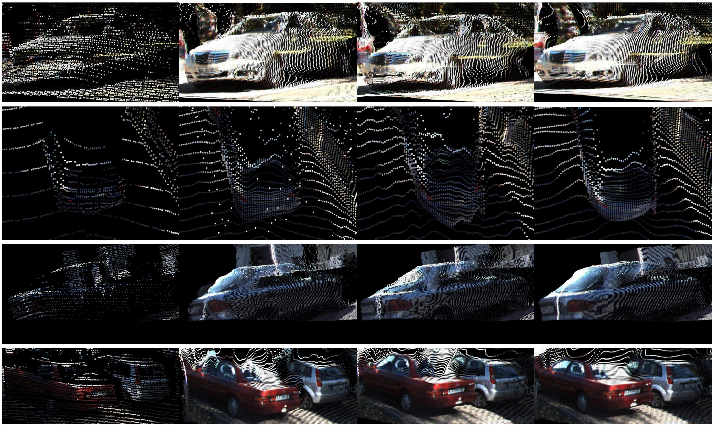 Point cloud visualization of vehicles circled in Fig.