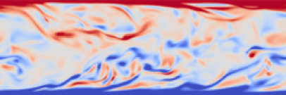 Contours of the instantaneous spanwise vorticity