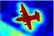 Score map (input before softmax function) and belief map (output of softmax function) for Aeroplane. We show the score (1st row) and belief (2nd row) maps after each mean field iteration. The output of last DCNN layer is used as input to the mean field inference.