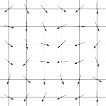 A configuration of spins in an