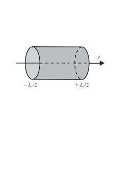 Cylindrical geometry for a two-dimensional band insulator. The cylinder axis is labeled by the co-ordinate