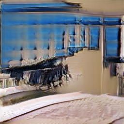 Example images generated by the StackGAN-v2 and its baseline models on LSUN bedroom (top) and CUB (bottom) datasets.
