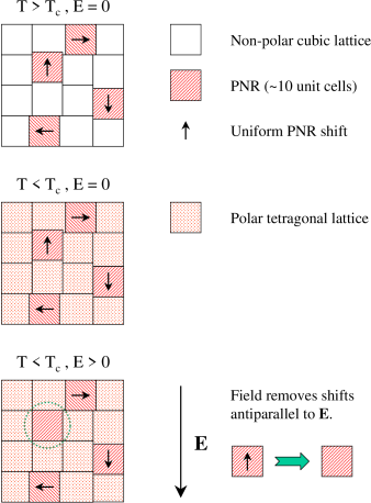 Top panel: Phase-shifted PNR embedded in a non-polar cubic lattice for