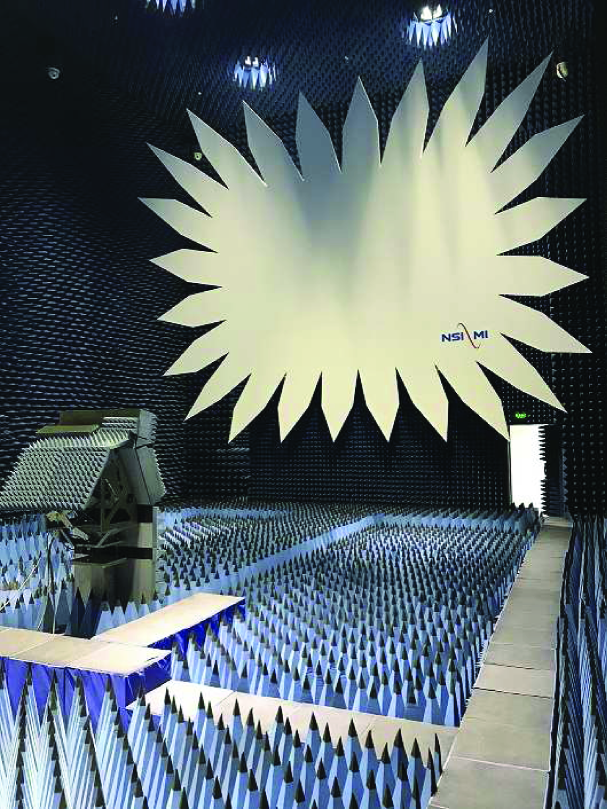 The compact range anechoic chamber of size