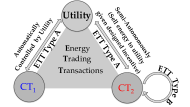 Types of crowdsourcees and energy trading transactions.