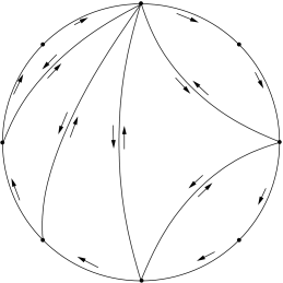 A triangulation of the disk with