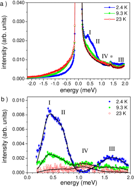 (a) INS spectra of Ni