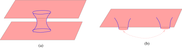 (a) Another representation of the blue spatial slice of figure