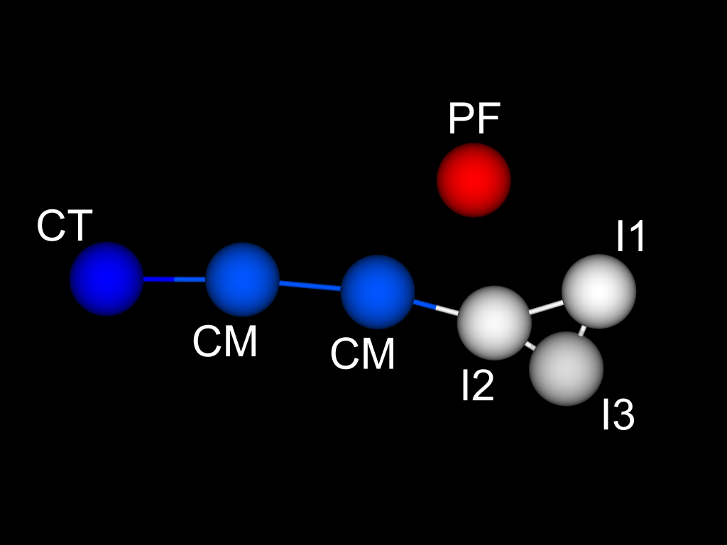 Schematic of the coarse-grained model for [