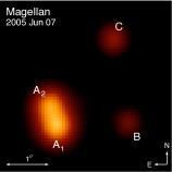 Images of PG1115+080. Clockwise from upper left: Maximum-likelihood reconstructed