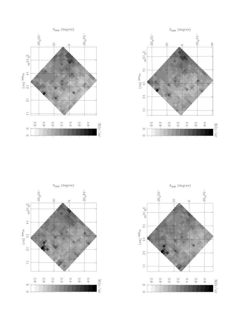 Images of the four rasters. Note the displacement of two pixels between raster centers.