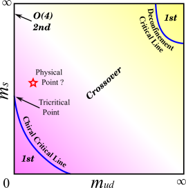 Schematic figure of the Columbia phase diagram in