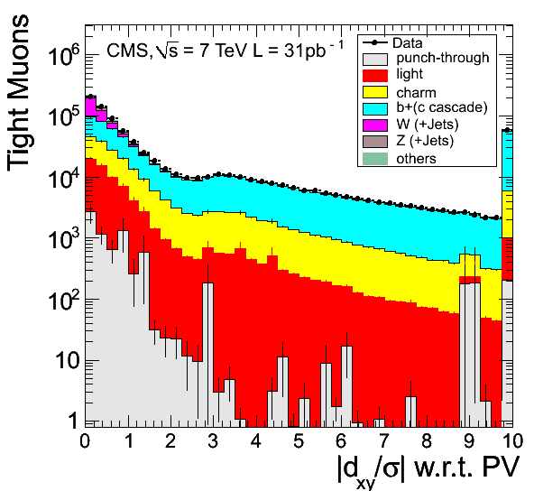 Identification variables for Tight Muons with