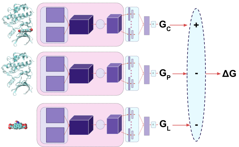 Diagram of Atomic Convolutions on Protein Ligand Systems.