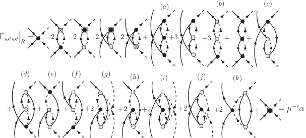 Graphical recursion relation for the two-loop contribution to the renormalization factor