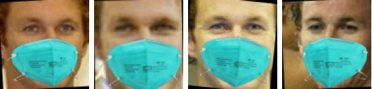 Samples of a set of simulated masked face images.