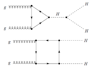The Feynman diagrams for the