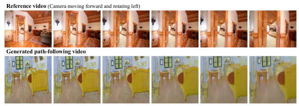 by using trajectories of other videos, we can even animate oil paintings.