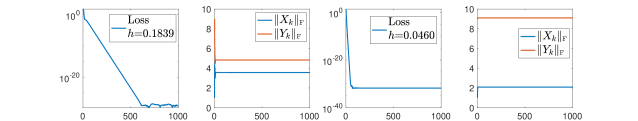 Balancing effect of general matrix factorization. We independently generate elements in