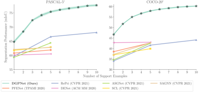Performance of the proposed DGPNet approach on the PASCAL-