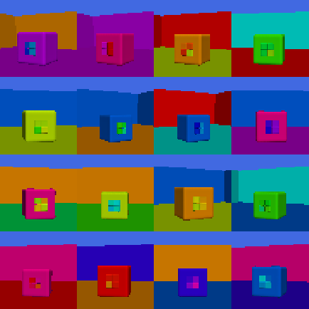 : Representative example images in our introduced Boxhead dataset.