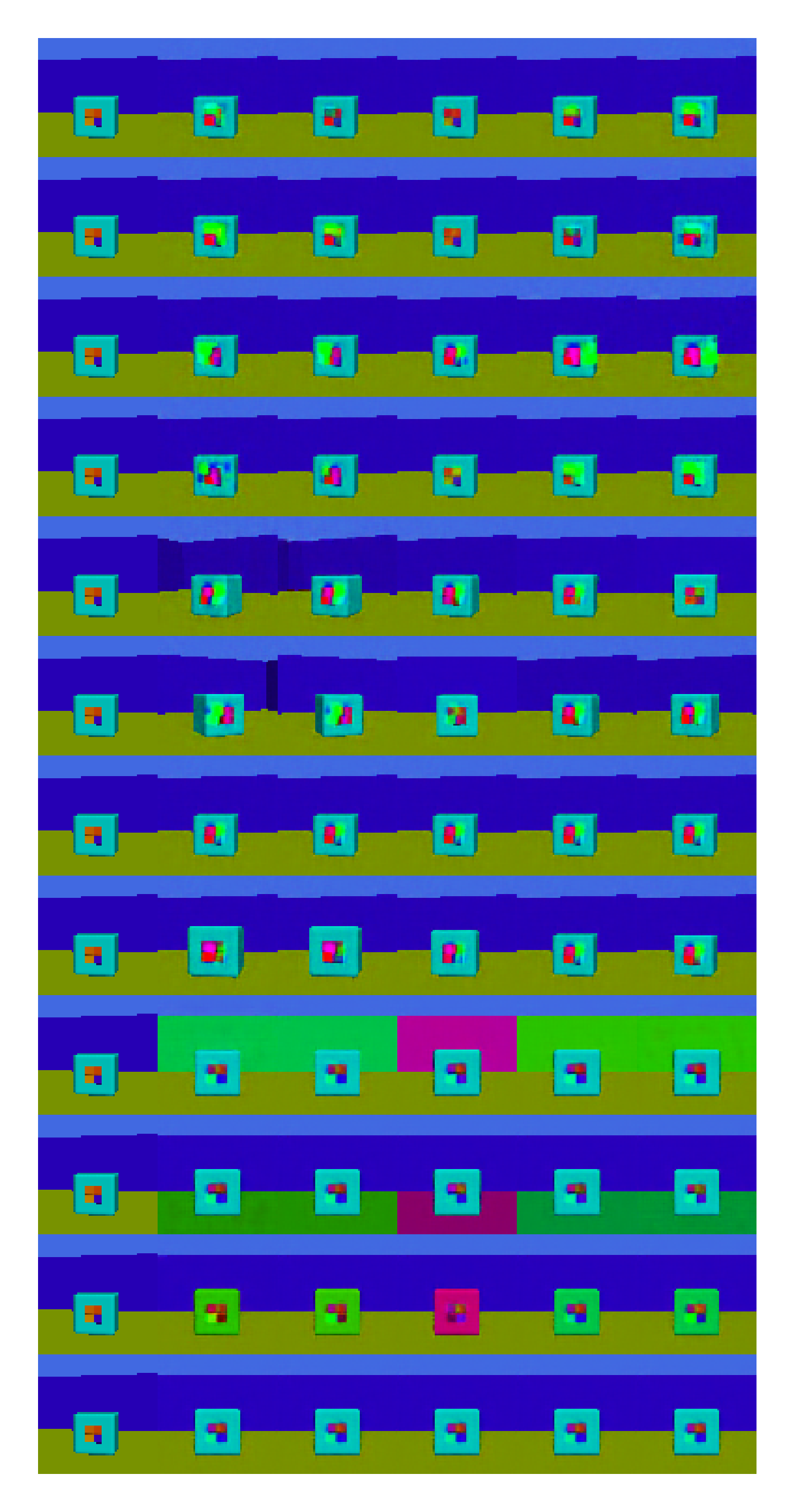 Latent traversal of top Micro Disentanglement score model among LVAEs (bottom) with a small and large architecture (right) pro-VLAEs with a small architecture,