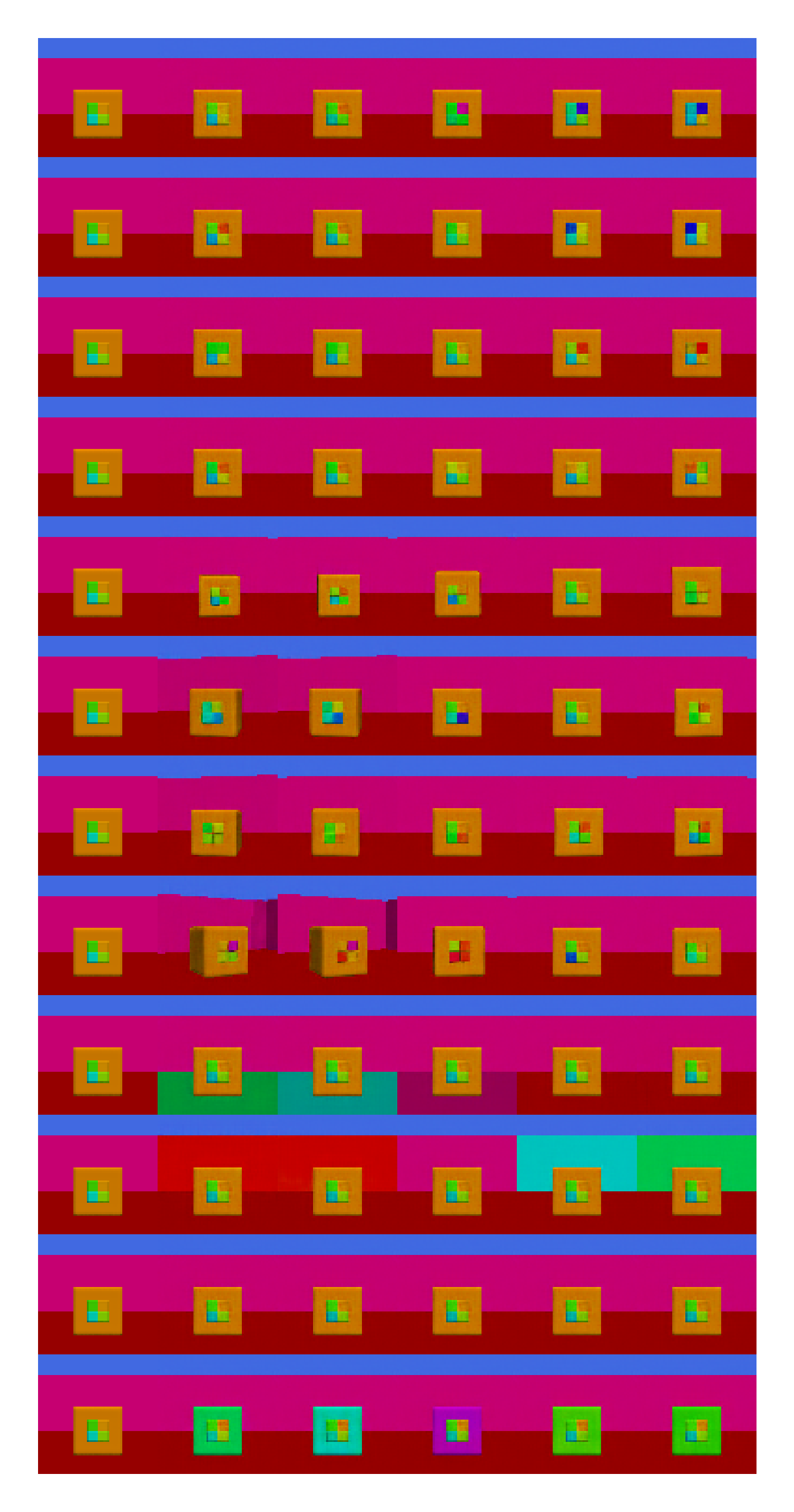Latent traversal of top Micro Disentanglement score model among pro-VLAEs with a small (left) and large architecture (right) pro-VLAEs with a small architecture,